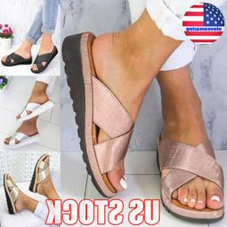 Womens Wedge Platform Espadrilles Sandals Slippers Ladies Su