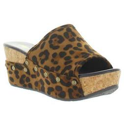 Volatile Womens Weezer Multi Heeled Wedge Sandals Shoes 7 Me