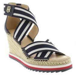 Tommy Hilfiger Womens Yesia Navy Wedge Sandals Shoes 7.5 Med