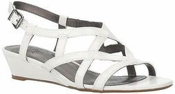 LifeStride Womens Yuppies Open Toe Casual Ankle Strap Sandal